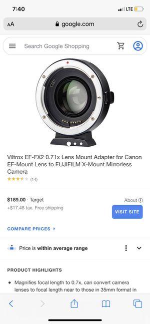 Viltrox auto focus mount adapter for Sale in Los Angeles, CA