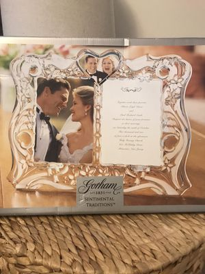 Elegant crystal wedding frame by Gorham, made in Germany for Sale in Cabin John, MD