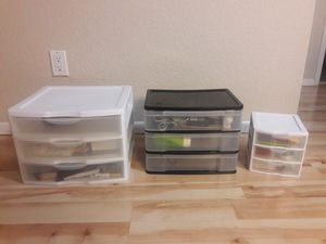 3 three-drawer storage containers for Sale in Glendale, AZ
