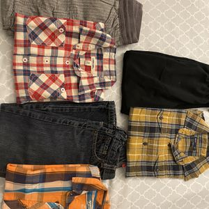 Boys shirts and pants 6-7yrs old 3pairs $30 for pick up only Thursday Friday Saturday Sunday Monday 3-6pm for Sale in Palo Alto, CA