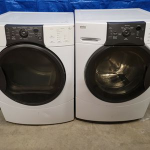 Kenmore Washer And Electric Dryer Set Good Working Condition Set For $379 for Sale in Lakewood, CO