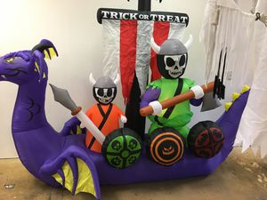 Halloween 12 ft airblown Viking ship. for Sale in Los Angeles, CA