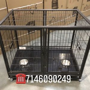 Dog Pet Cage Kennel Size 43 Lower With Divider And Feeding Bowls New In Box for Sale in Montclair, CA