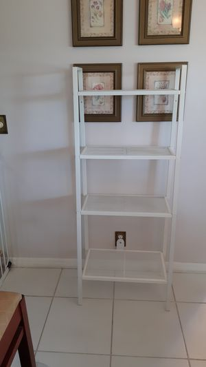 "IKEA white metal, ladder style Shelf 24"" x 58"" for Sale in Plantation, FL"