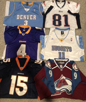 Jerseys Size 50-54 **AVS AND PATRIOTS ARE SOLD** for Sale in Centennial, CO