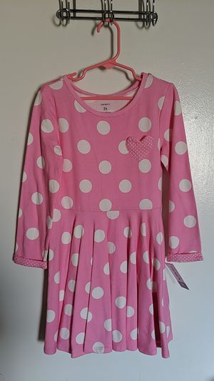 Carter's - NEW Girls Size 5T pink polka dots for Sale in West Covina, CA