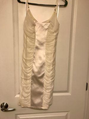 Bebe, satin white cocktail dress for Sale in Fort Washington, MD
