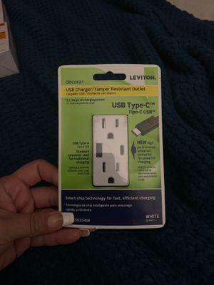 USB charger/Tamper Resistant outlet USB type -C for Sale in Orange, CA