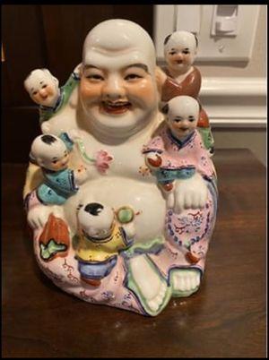 ASAHI Sato Gordon Collection Label BUDDHA w/ CHILDREN FERTILITY STATUE FIGURINE for Sale in Seminole, FL