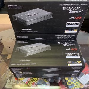 Orion Car Audio Car Stereo Amplifier . 5000 watts Class D . With Remote Bass Knob . New Years Super Sale $129 While They Last . New for Sale in Mesa, AZ