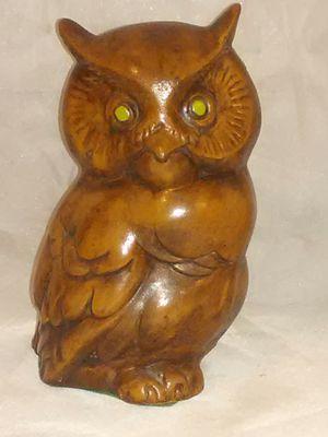 "Wooden owl statue 8"" tall 4""wide for Sale in Wichita, KS"