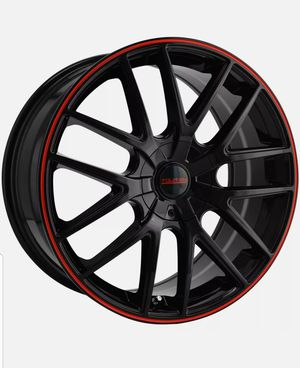 "TOUREN - TR60 17"" Black Rims W/ Red for Sale in Wood Dale, IL"