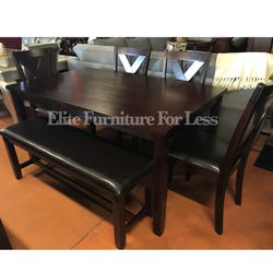 6Pc Espresso Table Set for Sale in Chula Vista,  CA