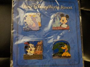 Disney World Pin Set w/ FREE Figment Pin Included for Sale in Huntington Beach, CA