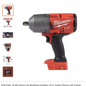 M18 FUEL 18-Volt Lithium-Ion Brushless Cordless 1/2 in. Impact Wrench with Friction Ring (Tool-Only) for Sale in Plainfield, NJ