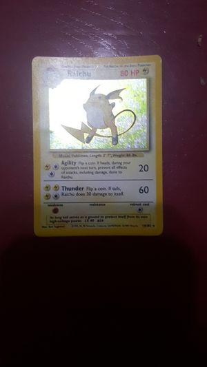 1999 raichu pokemon card rare! for Sale in St. Louis, MO