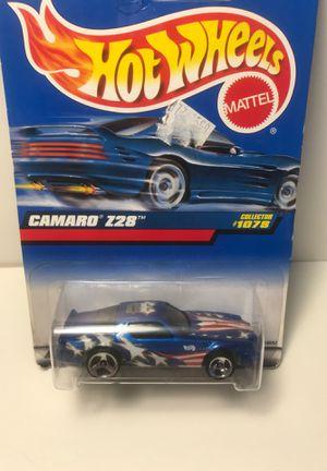 1999 Hot Wheels Collector No #1078 CAMARO Z28 Blue w/Chrome 3 Spoke Wheels for Sale in Stroudsburg, PA