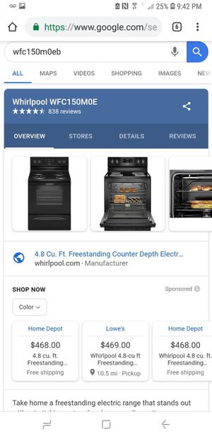 Whirlpool Range, Dishwasher and Microwave for Sale in Billerica, MA
