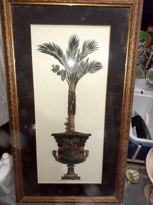 TWO Great condition framed palm tree pictures for Sale in Melbourne Village, FL