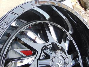 22X12 RBP SWAT Black Rims with Chrome Inserts *5X5.5*5X5*-44MM Offset* for Sale in Aurora, CO