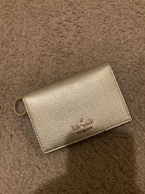 Gold Kate Spade Compact Wallet for Sale in Lathrop, CA
