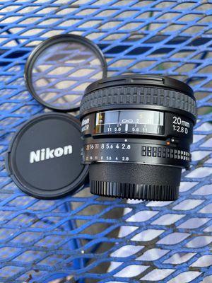 Nikon 20 f2.8 Af-d wise angle in excellent shape for Sale in El Monte, CA