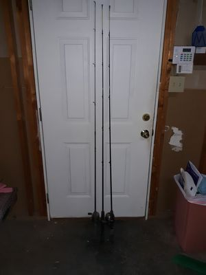 3 fishing rods with reels. No string. for Sale in Kernersville, NC
