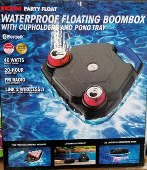 ION Floating Bluetooth Speaker / Cup holders / pong tray BRAND NEW for Sale in Tupelo, MS