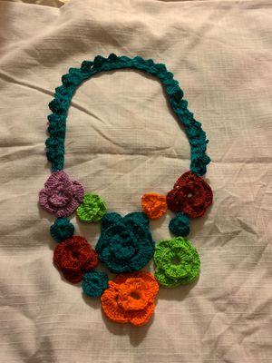Handmade flower design crochet necklace for Sale in Fremont, CA