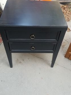 Black 2 Drawer Nightstand for Sale in Glendale,  CA