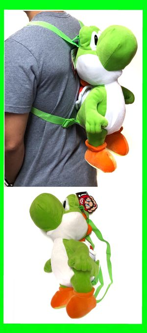 NEW! Novelty Yoshi Super Mario Bros Backpack, mario Kart Mario party kids bag Nintendo switch for Sale in Los Angeles, CA