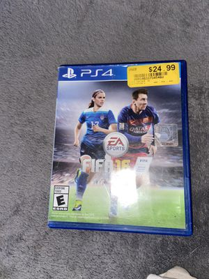FIFA16 For PS4 for Sale in Oklahoma City, OK