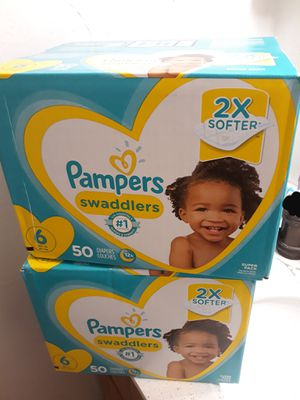 Pampers Swaddlers Size 6 Diapers •$35 for both or $19 each for Sale in Vallejo, CA
