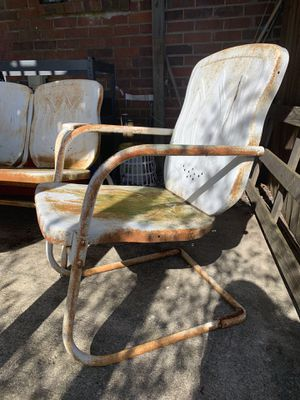 Vintage patio furniture - glider, table, and chair for Sale in Old Hickory, TN