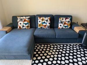 Ikea Kivik Sectional and Chaise w Ottoman for Sale in Ashburn, VA
