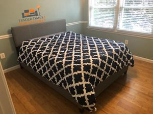 Brand New King Size Grey Linen Upholstered Platform Bed Frame ONLY for Sale in Arlington, VA