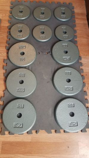 90lbs standard weight set 6x10lbs 6x5lbs for Sale in Montebello, CA