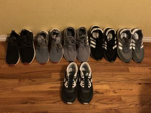Men's Adidas Shoes 5 pairs, 1 pair Nike Air Max. All size 10 for Sale in Whittier, CA
