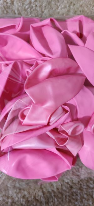 Birthday party decorations pink latex balloons 23 pack.... Long size for Sale in NO POTOMAC, MD