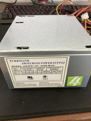 Turbolink 420w Computer Power Supply for Sale in Fontana, CA