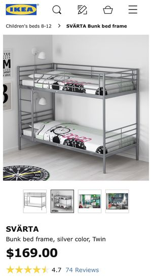 Bunk bed frame gray twin for Sale in MONTGOMRY VLG, MD