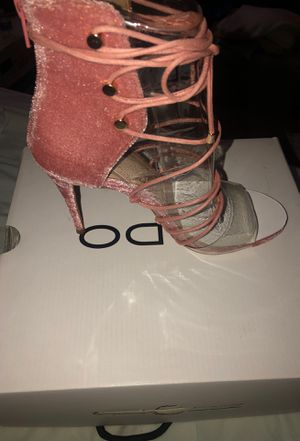 Pink Lace up Heels (Brand New) for Sale in Fort Washington, MD