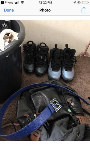 Jordan 6 and Air Force foams and fendi belt for Sale in Turlock, CA