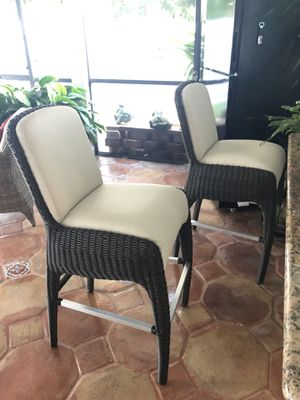 Two Gorgeous Bar Stools in Excellent New Condition! for Sale in Miami, FL