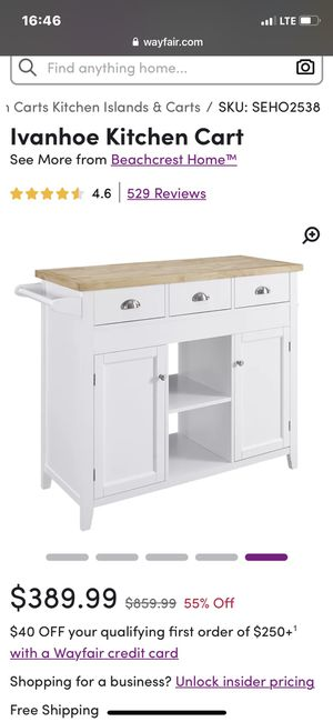 Kitchen Island Cart for Sale in Fresno, CA