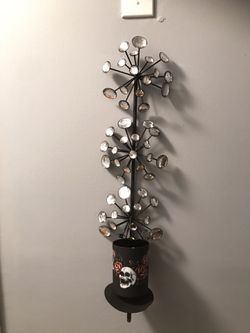 Wall candle sconce ( black metal with crystals) for Sale in Plainville,  CT