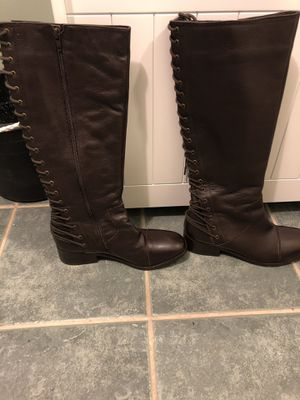 Two Lips Brown Leather-Upper Sole boots for Sale in Hyattsville, MD