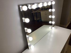 Mirror with lights for Sale in Manassas, VA