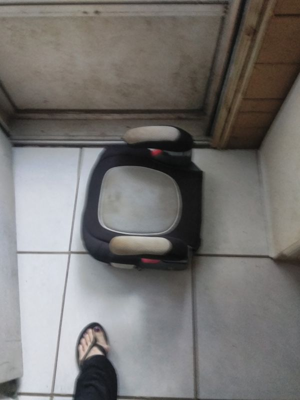 Red black grey booster seat