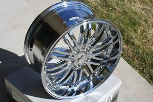 Brand New Set of Four 19X9 Chrome Wheels 5X114.3 *43MM Offset* for Sale in Aurora, CO